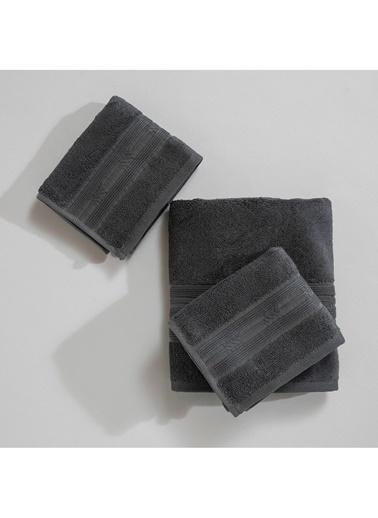 Basics By Chakra Home 3 Lü Havlu Seti Granit Gri